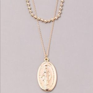 Jewelry - Saintly Coin Chain Layered Necklace in Gold
